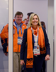 08-02-2014 SCHAATSEN: OLYMPIC GAMES: SOTSJI<br /> Maxima Willem Alexander verslaten de schaatstempel<br /> ©2014-FotoHoogendoorn.nl<br />  / Sportida