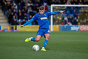 AFC Wimbledon midfielder Max Sanders (23) passing the ball,  during the EFL Sky Bet League 1 match between AFC Wimbledon and Doncaster Rovers at the Cherry Red Records Stadium, Kingston, England on 14 December 2019.