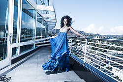 Model and Actress Bria Murphy (daughter of actor comedian Eddie Murphy, former model Nicole Mitchell Murphy). Editorial Fashion at the Loews Hotel Hollywood Los Angeles California. Makeup Hair Maureen Burke. Publicist Teal Entertainment. Prestige International PIM18. Photo © Amyn Nasser