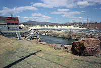 Holyoke Dam and municipal hydro electric plant on Connecticut River, Holyoke, MA