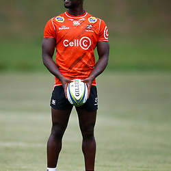 Madosh Tambwe of the Cell C Sharks during the Cell C Sharks training session from theBox Hill Rugby Union Football Club  RHL Sparks Reserve, Canterbury Rd & Middleborough Road, Box Hill VIC 3128. Melbourne,Australia 18 February 2020. (Photo Steve Haag Sports -Hollywoodbets)