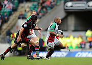 Twickenham, GREAT BRITAIN,   Quins, Jordan TURNER-HALL, on the break, during the Guinness Premiership match,  Saracens vs Harlequins, at Twickenham Stadium, Surrey on Sat 06.09.2008. [Photo, Peter Spurrier/Intersport-images]