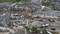 Nursery business Free State Growers' greenhouses took a direct hit in Linwood Tuesday, May 28, 2019 when a tornado roared through Linwood, Kansas. Photo byRich Sugg/Kansas City Star/TNS/ABACAPRESS.COM