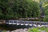 Part of the fish ladder at the Capilano Fish Hatchery at the Capilano River in Capliano River Regional Park - North Vancouver, British Columbia, Canada.