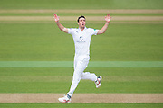 Kyle Abbott of Hampshire during the Specsavers County Champ Div 1 match between Hampshire County Cricket Club and Middlesex County Cricket Club at the Ageas Bowl, Southampton, United Kingdom on 14 April 2017. Photo by David Vokes.