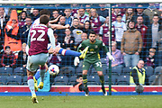 Aston Villa Midfielder, Gary Gardner (22) shoots  during the EFL Sky Bet Championship match between Blackburn Rovers and Aston Villa at Ewood Park, Blackburn, England on 29 April 2017. Photo by Mark Pollitt.