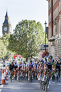 The peloton during the Tour of Britain 2016 stage 8 , London, United Kingdom on 11 September 2016. Photo by Mark Davies.
