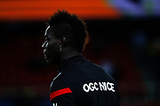 Mario Balotelli (Olympique Gymnaste Club Nice Cote d Azur - OGC Nice) at it entrance on the playground during the French Championship Ligue 1 football match between Paris Saint-Germain and OGC Nice on October 27, 2017 at Parc des Princes stadium in Paris, France - Photo Stephane Allaman / ProSportsImages / DPPI