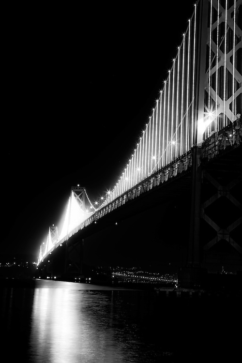 Easterly view of San Francisco/Oakland Bay Bridge. Copyright 2013 Reid McNally.