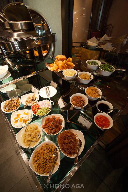 Lebua at State Tower Hotel. Breakfast buffet at Mezzaluna restaurant.