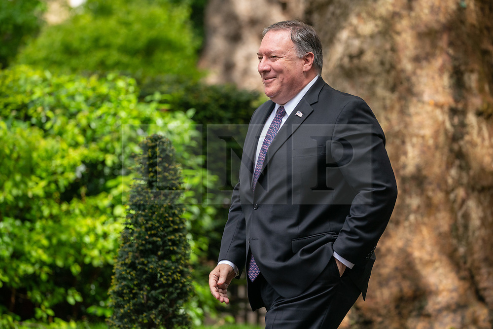 © Licensed to London News Pictures. 08/05/2019. London, UK. US Secretary of State Mike Pompeo arrives in Downing Street for talks with British Prime Minister Theresa May (not pictured). Photo credit : Tom Nicholson/LNP