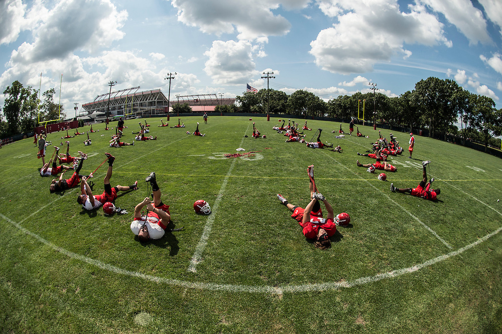 Rutgers Scarlet Knights Football practice on Monday August 4, 2014.<br /> Ben Solomon/Rutgers Athletics