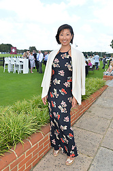BEATRIX ONG at The Royal Salute Coronation Cup Polo held at Guards Polo Club,  Smiths Lawn, Windsor Great Park, Egham on 23rd July 2016.