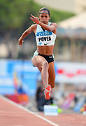 Liadagmis Povea (CUB) places second in the women's triple jump at 48-3 1/4(14.71m) during the women's triple jump in the  Herculis Monaco in an IAAF Diamond League meet , Thursday, July 11, 2019, in Port Hercules, Monaco.(Jiro Mochizuki/Image of Sport)