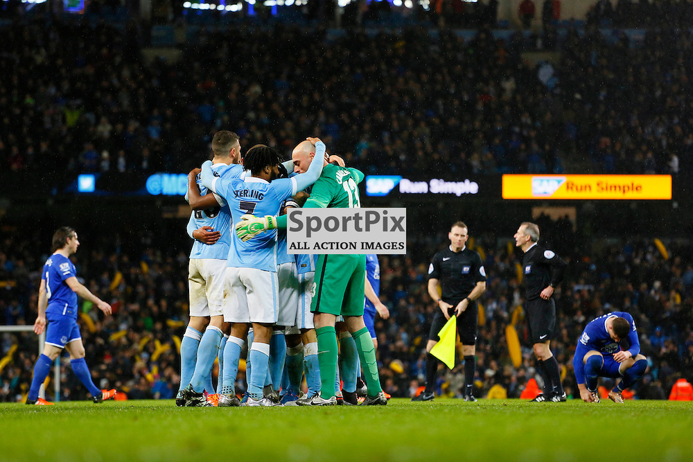 Manchester City reach Wembley during Manchester City vs Everton, Captial One Cup, Wednesday 27th January 2016, Etihad Stadium, Manchester