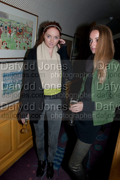 Lily Cole; katherine Poulton; , BRIONI FRAGRANCE LAUNCH. Annabels. Berkeley Sq. London. 14 October 2009.