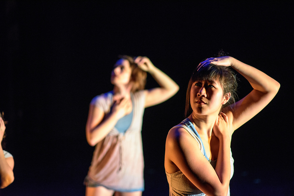 Baltimore, Maryland - April 25, 2017: Worn (Gianna Rodriguez, choreographer)<br /> Based on a poem, visual representation of the feeling of being worn down or at your wit's end. <br /> Baltimore modern dance company The Collective's annual concert &quot;This is Home&quot; at the Baltimore Theatre Project. <br /> <br /> <br /> CREDIT: Matt Roth