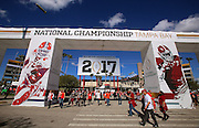 Fans enjoyed the ultimate game day tailgate outside Raymond James Stadium featuring interactive games, concessions and ESPN broadcast sets, Monday, January 9, 2017.