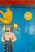 Detail of roadside shrine to God Kataragama. Wellawaya - Koslanda Road.