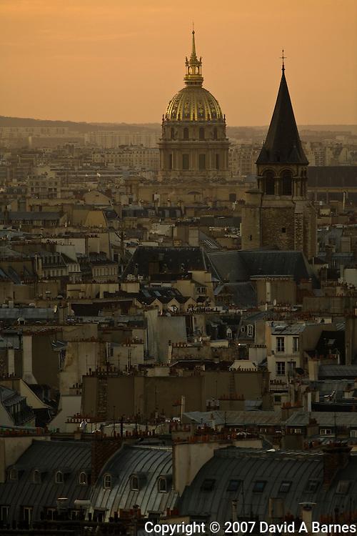 Invalides, Saint Germain des Pres, roofs, Paris, France