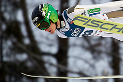 Poland, Wisla Malinka - 2017 November 19: Peter Prevc from Slovenia soars through the air while Men's Individual HS134 competition during FIS Ski Jumping World Cup Wisla 2017/2018 - Day 3 at jumping hill of Adam Malysz on November 19, 2017 in Wisla Malinka, Poland.<br /> <br /> Mandatory credit:<br /> Photo by © Adam Nurkiewicz<br /> <br /> Adam Nurkiewicz declares that he has no rights to the image of people at the photographs of his authorship.<br /> <br /> Picture also available in RAW (NEF) or TIFF format on special request.<br /> <br /> Any editorial, commercial or promotional use requires written permission from the author of image.