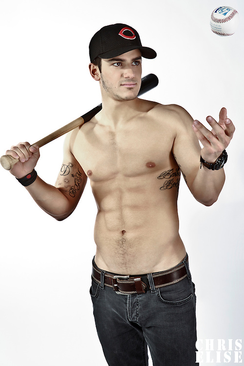 4 January 2012: NCAA Division I baseball french player Maxime Lefevre, from the University of Arkansas of Little Rock, poses for a portrait, wearing a cap from Cochise College, in Lille, France.