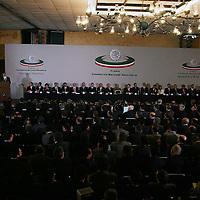 Queretaro, Qro.- Aspecto de la ceremonia inaugural de la I Convencion nacional Hacendaria en la ciudad de Queretaro el 5 de Febrero de 2004. Agencia MVT / Mario Vazquez de la Torre.