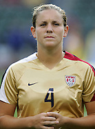 25 August 2007: Cat Whitehill. The United States Women's National Team defeated the Women's National Team of Finland 4-0 at the Home Depot Center in Carson, California in an International Friendly soccer match.