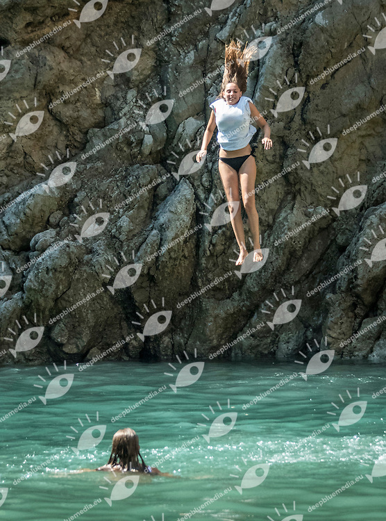 Diving<br /> XXX Marmeeeting <br /> High Diving Tuffi Grandi Altezze<br /> Furore (SA) Italia Italy<br /> 20160904Fiordo di Furore<br /> Photo &copy; Giorgio Scala/Deepbluemedia/Insidefoto