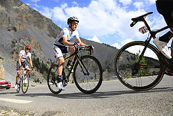 White Jersey Simon Yates (GBR) Orica-Scott and Alberto Contador (ESP) Trek-Segafredo climb through the Caisse Deserte on Col d'Izoard during Stage 18 of the 104th edition of the Tour de France 2017, running 179.5km from Briancon to the summit of Col d'Izoard, France. 20th July 2017.<br /> Picture: Eoin Clarke | Cyclefile<br /> <br /> All photos usage must carry mandatory copyright credit (© Cyclefile | Eoin Clarke)