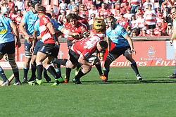 28-07-18 Emirates Airline Park, Johannesburg. Super Rugby semi-final Emirates Lions vs NSW Waratahs. 1st half. Lions prop Jacques van Rooyen with the ball. <br />  Picture: Karen Sandison/African News Agency (ANA)