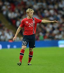 Norway's Mats Moller Daehli  - Photo mandatory by-line: Alex James/JMP - Mobile: 07966 386802 - 3/09/14 - SPORT - FOOTBALL - London - Wembley Stadium - England v Norway - International Friendly