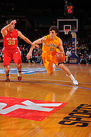 California guard Nikola Knezevic #13 drives to the basket during the 2K Sports Classic at Madison Square Garden. (Mandatory Credit: Delane B. Rouse/Delane Rouse Photography)