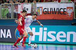 Marcin Mikolajewicz of Poland during futsal match between Russia and Poland at Day 1 of UEFA Futsal EURO 2018, on January 30, 2018 in Arena Stozice, Ljubljana, Slovenia. Photo by Urban Urbanc / Sportida