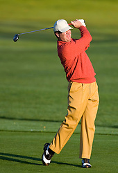 February 14, 2010; Pebble Beach, CA, USA;  Steve Elkington on the second hold during the final round of the AT&T Pebble Beach Pro-Am at Pebble Beach Golf Links.