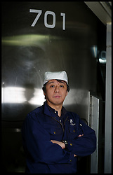Naoyuki Yokoyama, is head of the laboratory at the Urakasumi sake Brewery in Shiogama City. Miyagi. He was one of four men who stayed behind to protect the brewery. Having experienced the tsunami from the earthquake in Chile in 2010, he did not expect that the waves would come so high. He spent the night on the roof in the darkness with the waves lashing below and thought he would die, Saturday February 4, 2012. Photo By Andrew Parsons/i-Images