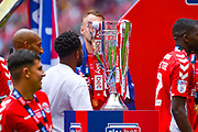 The play off trophy, won by Charlton Athletic during the EFL Sky Bet League 1 play off final match between Charlton Athletic and Sunderland at Wembley Stadium, London, England on 26 May 2019.