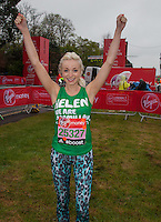 Helen George plays the fun loving, party-going character of Trixie Franklin in the phenomenally successful BBC series Call the Midwife, BBC 1's most successful new drama series for 11 years when it premiered in 2012. Photographed at the celebrity start of the Virgin Money London Marathon 2015, Sunday 26th April 2015<br /> <br /> Roger Allen for Virgin Money London Marathon<br /> <br /> For more information please contact Penny Dain at pennyd@london-marathon.co.uk