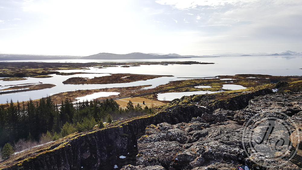 Tectonic plates in Thingvellir National Park