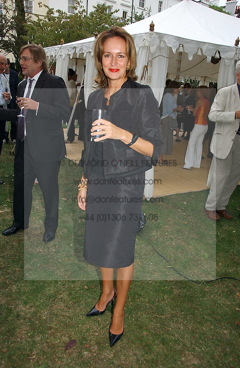 CAROLINE MICHEL at a party to celebrate the publication of Notting Hell by Rachel Johnson held in the gardens of 1 Rosmead Road, London W11 on 4th September 2006.<br />