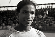 P T Usha, one of the greatest Indian athletes, photographed at the National Games in Mangalore, held sometime in mid 80s