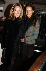 Left to right, MRS MARTIN SUMMERS and her daughter in law MRS ALEXANDER PETO at a jewellery party hosted by Osanna Visconti and Pia Marocco at Allegra Hick's shop, 28 Cadogan Place, London on 25th November 2004.<br /><br />NON EXCLUSIVE - WORLD RIGHTS