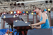 Ben Thornewill of the band Jukebox The Ghost performs during Artscape in Baltimore, MD on Saturday, July 20, 2013.