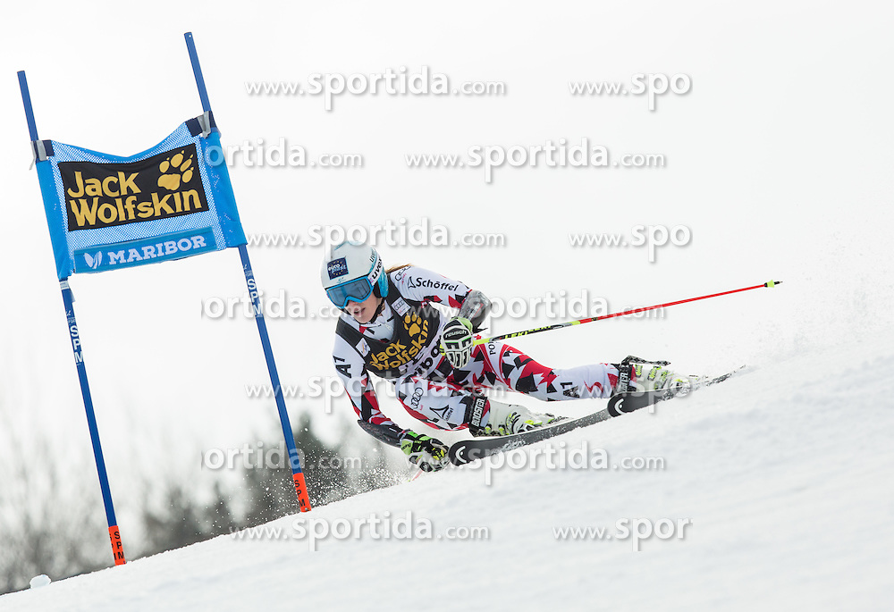 Carmen Thalmann (AUT) competes during 7th Ladies' Giant slalom at 52nd Golden Fox - Maribor of Audi FIS Ski World Cup 2015/16, on January 30, 2016 in Pohorje, Maribor, Slovenia. Photo by Vid Ponikvar / Sportida