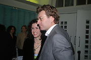 Mollie Dent-Brocklehurst and Duncan Ward. Art Plus dance fundraising party. Whitechapel gallery. 21 March 2005. ONE TIME USE ONLY - DO NOT ARCHIVE  © Copyright Photograph by Dafydd Jones 66 Stockwell Park Rd. London SW9 0DA Tel 020 7733 0108 www.dafjones.com