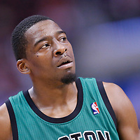 08 January 2014: Boston Celtics shooting guard Jordan Crawford (27) rests during the Los Angeles Clippers 111-105 victory over the Boston Celtics at the Staples Center, Los Angeles, California, USA.