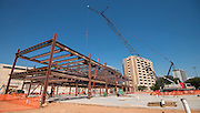 Construction crews work on the new DeBakey High School for Health Professionals, October 14, 2015.
