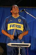 "03/04/04 - Boca 99 birthday in ""La Bombonera"" (Boca Juniors Stadium).Buenos Aires, Argentina..Tevez debut as a singer whith his band.©A.K./PikoPress"