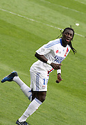 Bafetimbi Gomis of Lyon. <br /> Toulouse v Lyon (2-0), Ligue 1, Stade Municipal, Toulouse, France, 1st May 2011.