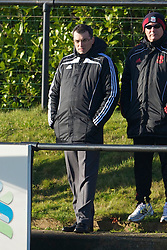 KIRKBY, ENGLAND - Tuesday, November 16, 2010: Liverpool's Director of Football Strategy Damien Comolli watches the reserve side take on Blackpool during the FA Premiership Reserves League (Northern Division) match at the Kirkby Academy. (Pic by: David Rawcliffe/Propaganda)